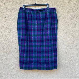Pendleton virgin wool skirt size 14 plaid